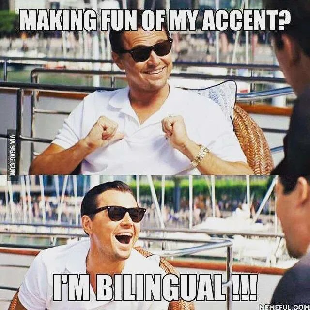 se burlan de mi acento pero soy bilingüe