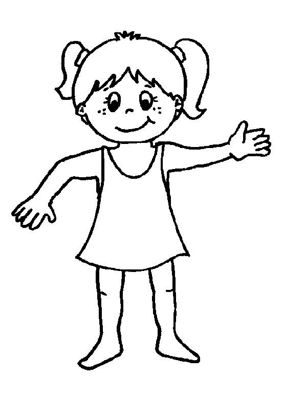 Y Nino La Nina Cuerpo Del Silueta De Dibujos De