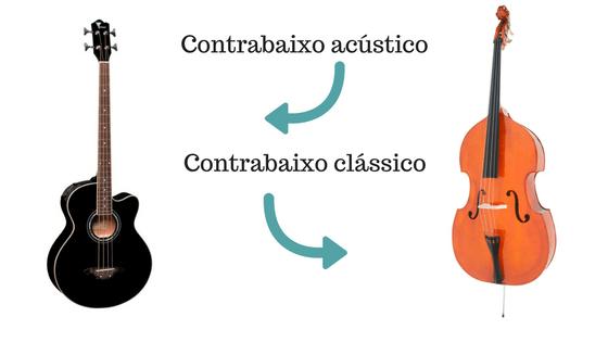 Contrabaixo acústico e clássico