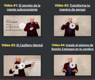 cuatro vídeos de memorización