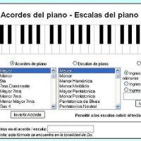 Piano virtual. Acordes , escalas, triadas , cuatriadas. Muy bueno