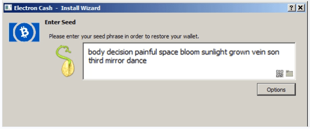 Example of a wallet seed. What is the seed? HD Hierarchical deterministic wallet