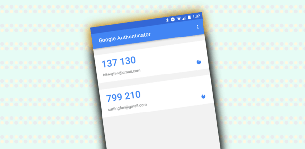 Google Authenticator passwords