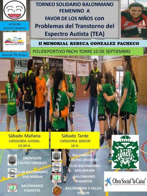 Torneo solidario balonmano femenino a favor de aprendeTEA y APTACAN