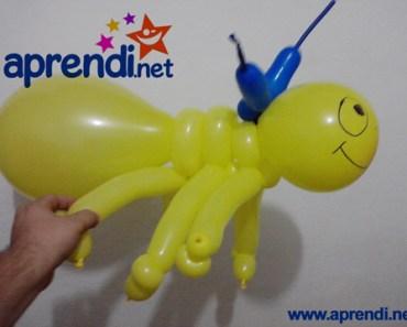 Escultura de Balão na forma de Formiga