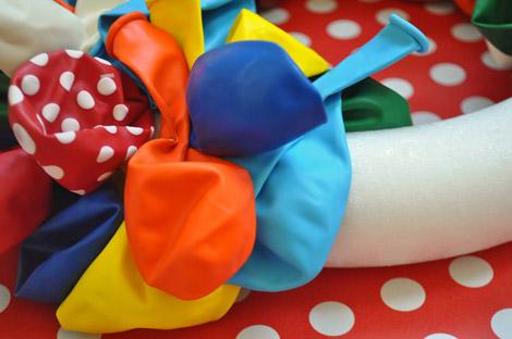 Volume criado pelos balões.