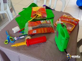 Inflador para balões 260, bomba manual e balões