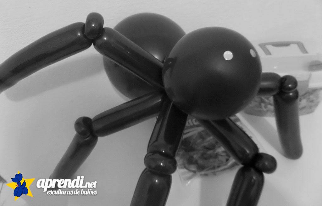 aprendinet-esculturas-de-baloes-halloween-aranha