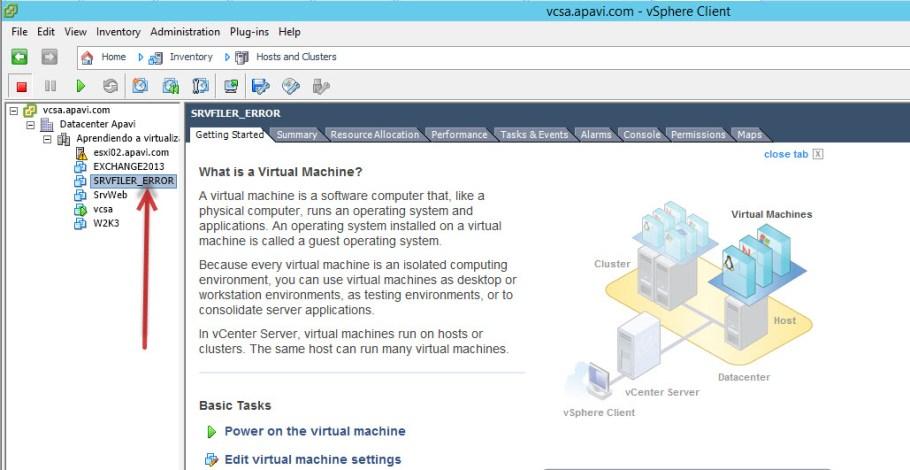 Error Maquina virtual