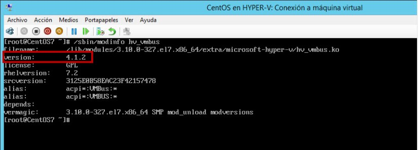 version LIS hyper-v