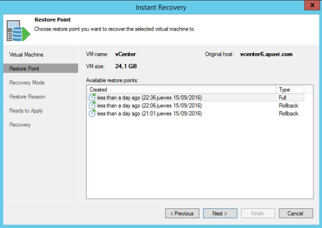 Veeam Quick Backup 6