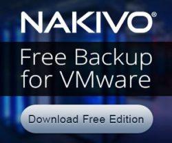 NAKIVO free Backup for VMware