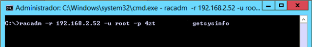 racadm connection