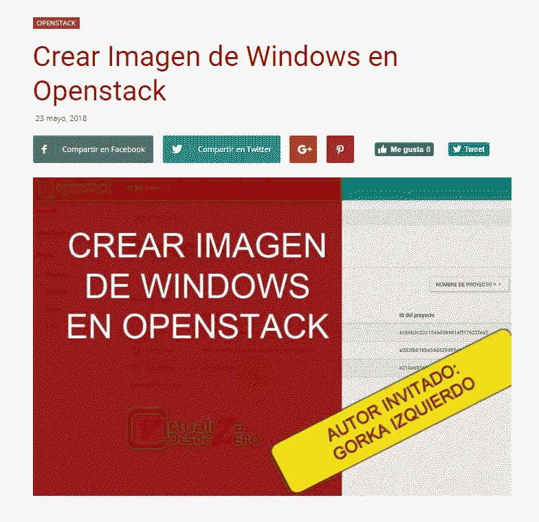 Crear imagen de Windows en OpenStack