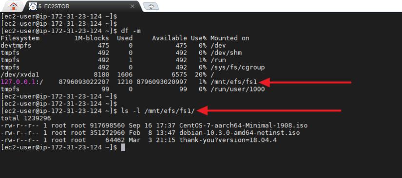 Montar automáticamente Sistema de archivos EFS montaje nfs