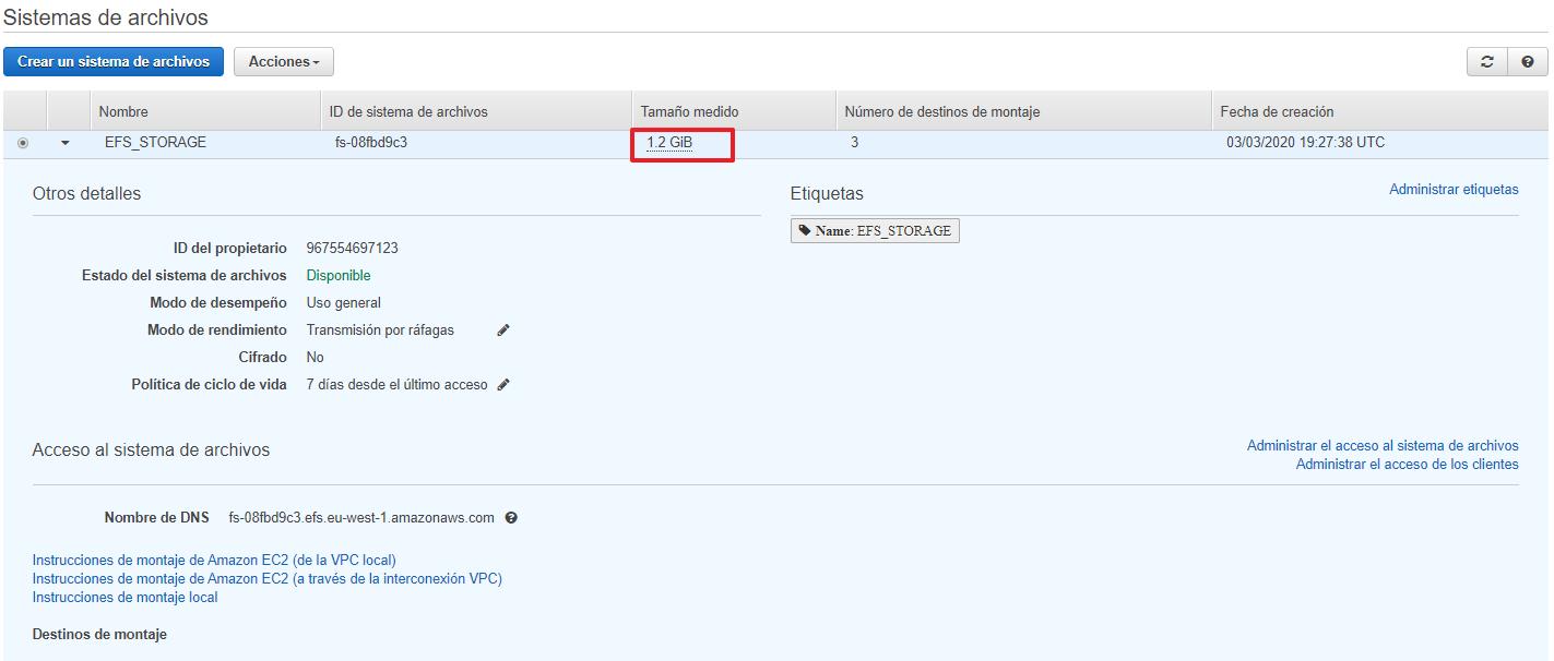Montar automáticamente Sistema de archivos EFS