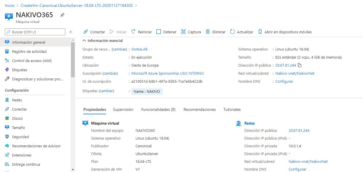 Backups de Microsoft 365