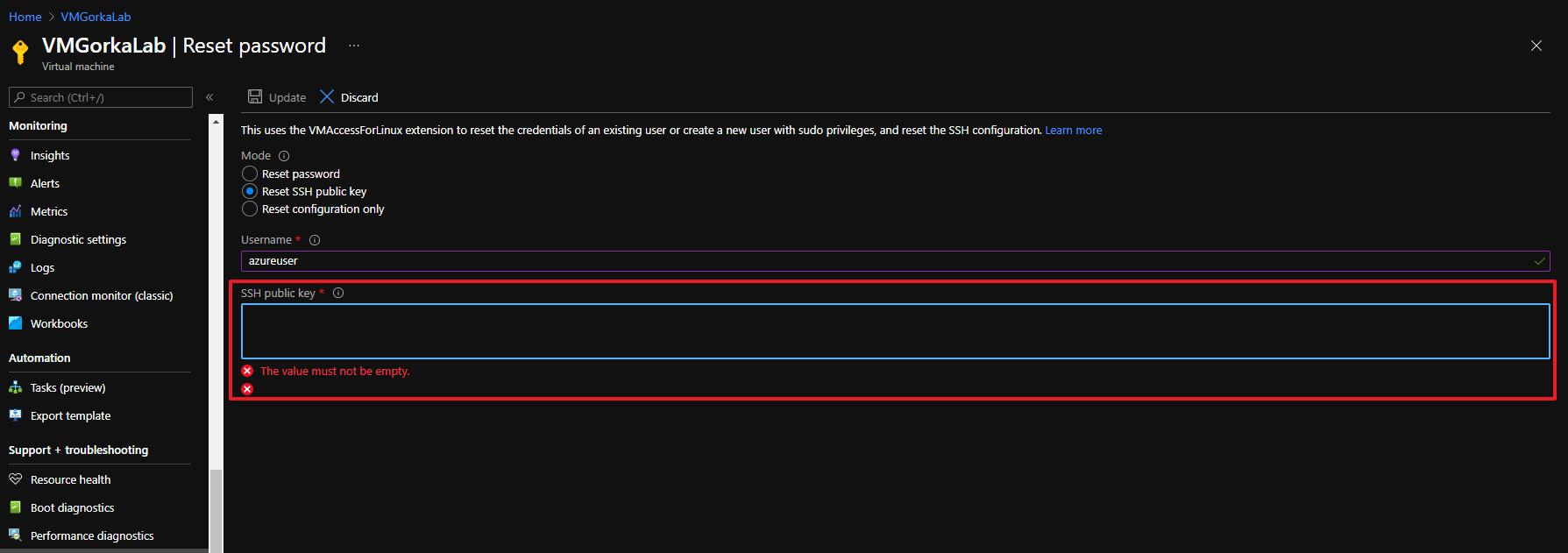 resetear SSH key