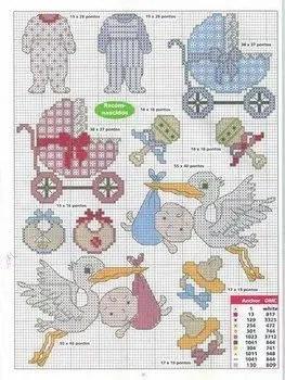 patrones infantiles en punto de cruz - abecedario