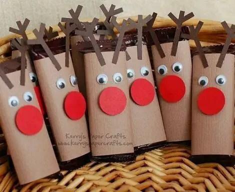 Manualidades de navidad con rollos de papel higi nico for Manualidades para diciembre