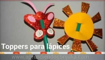 Toppers - manualidad con goma eva para niños