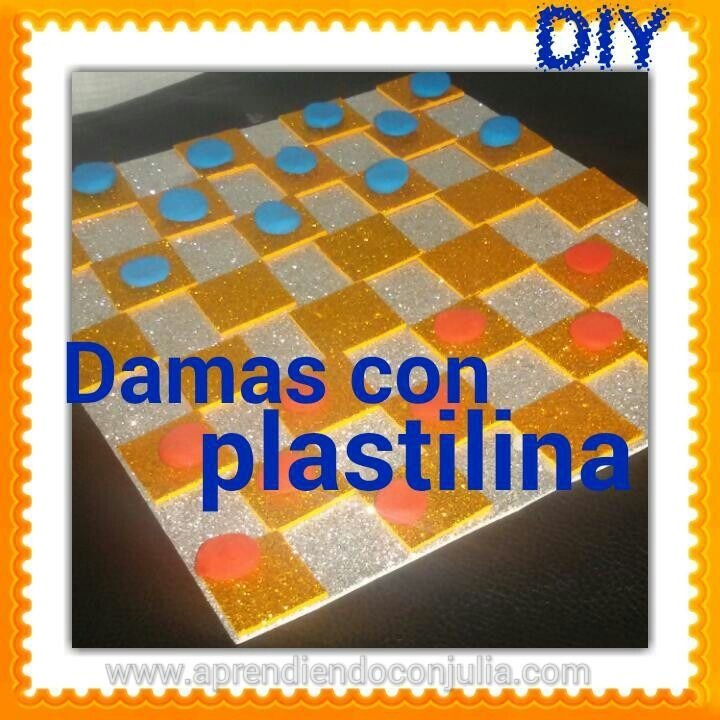 manualidad con plastilina y goma eva: damas