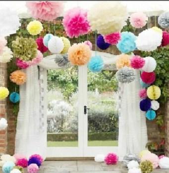 29-colores-disponibles-pompones-de-papel-de-seda-para-cumpleaños-12-pulgadas-30-cm-5-unids