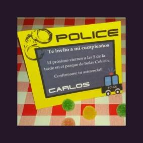 Invitación policía