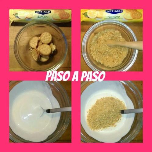 helado polo de galletas de limón y yogur - Receta