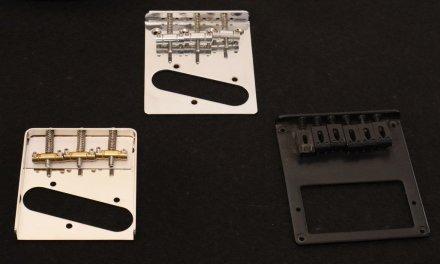 El puente tipo «ashtray» de la Fender Telecaster, diseño y opciones.