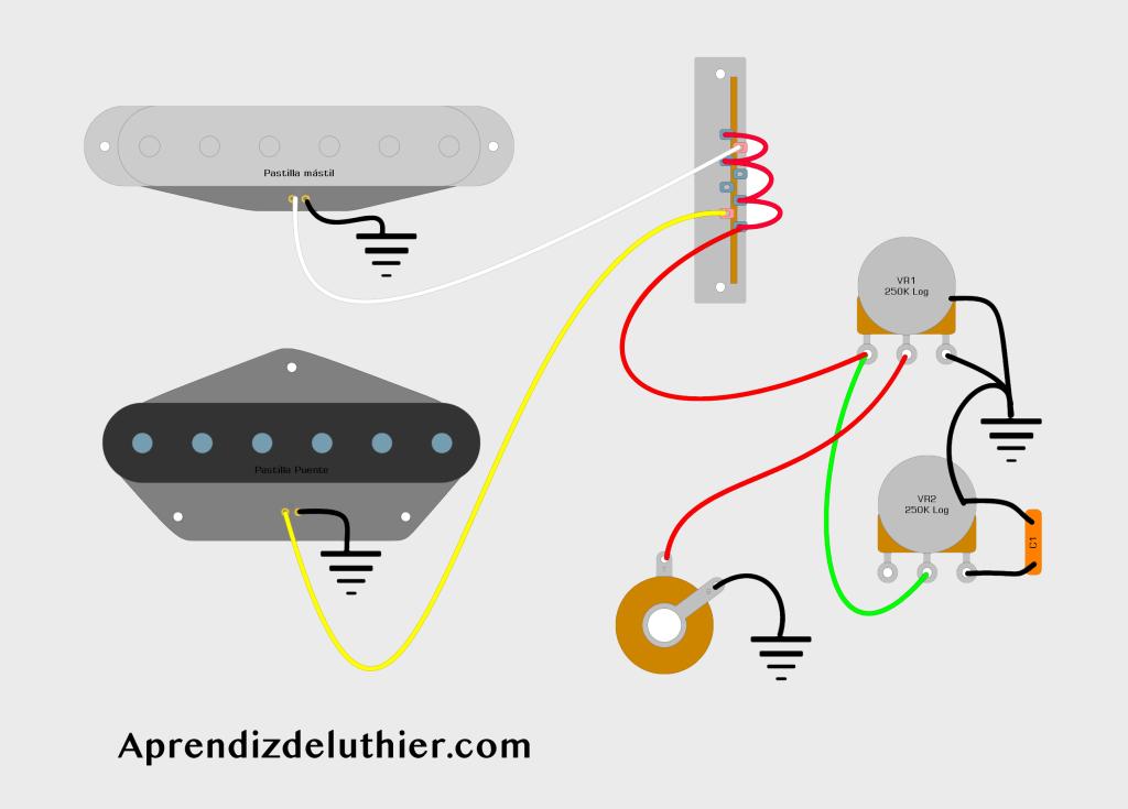 Cableado estándar de la Fender Telecaster – Esquemas y solución de problemas
