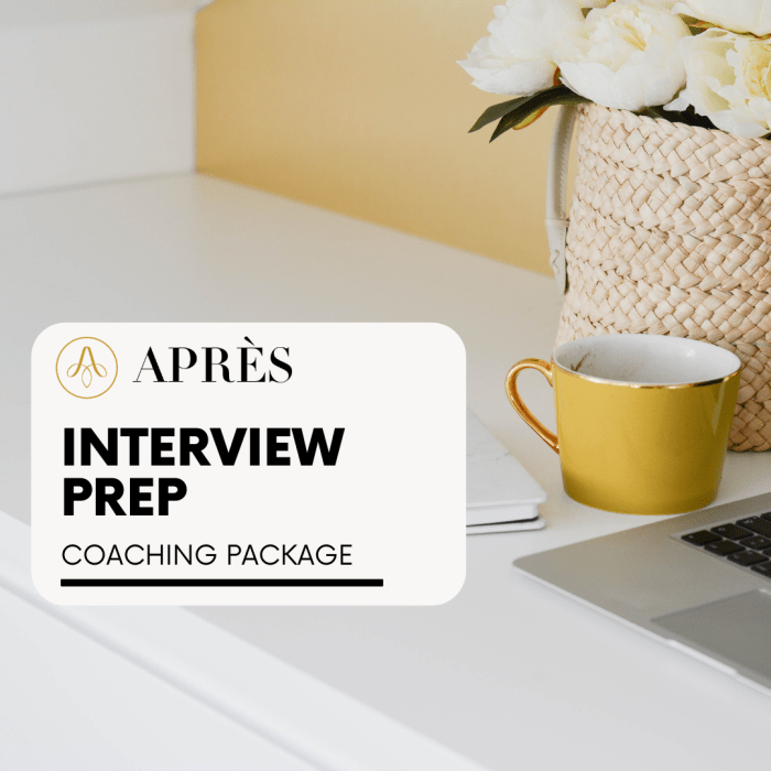 Interview prep coaching package for moms going back to work