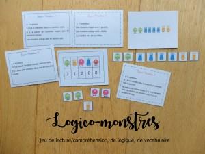Logico-monstres : jeu de lecture/compréhension, de logique, de vocabulaire mathématique et de calcul