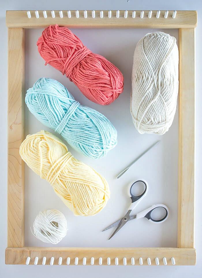 materials needed - 3 mini weavings