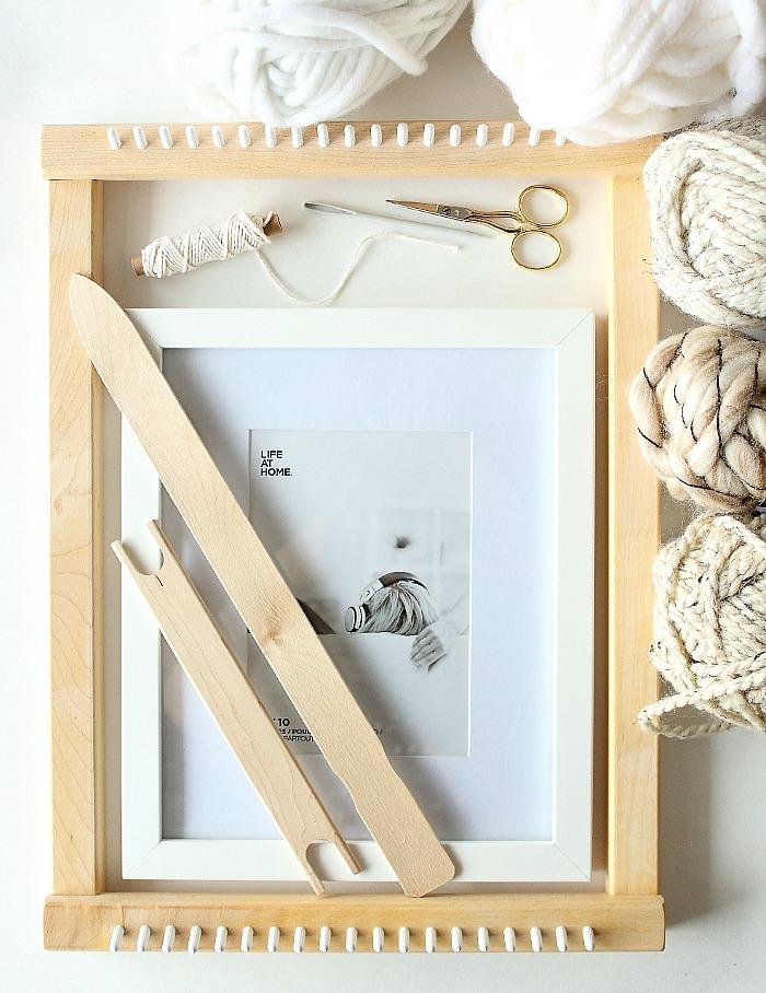 DIY mini framed weaving - materials.