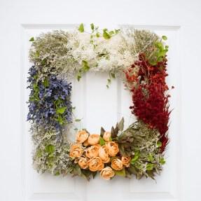 Pretty Vintage Floral Wreath DIY