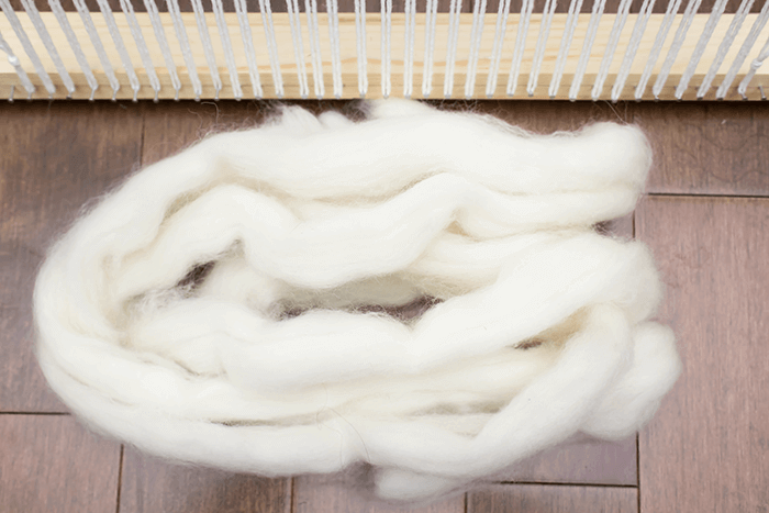 Wool roving | DIY weaving