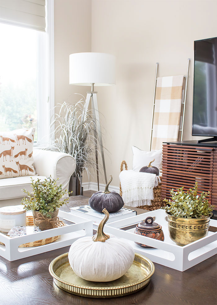 Simply Fall Warm Cozy Fall Living Room Refresh A Pretty Fix
