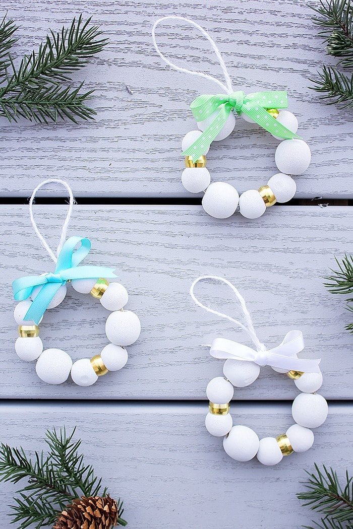 Diy Wood Bead Christmas Ornaments A Pretty Fix,Square Kitchen Layout