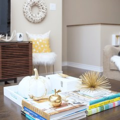Take a tour of this fresh & cozy living room decked out for fall.