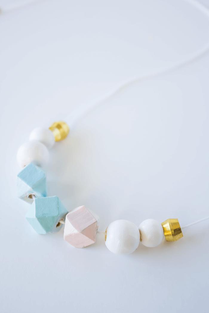 DIY Bead Necklace Using Nail Polish - A Pretty Fix