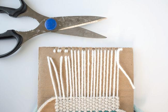 Woven Coaster Craft - Snip Off Warp Strands