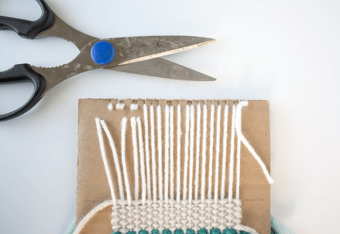 Woven Coaster Craft - Snip Off Warp Strands