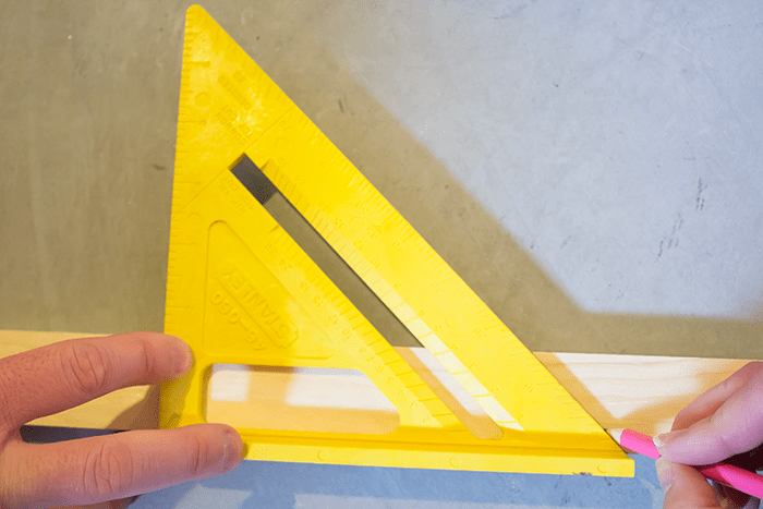 How To Frame Canvas Art - mark 45-degree angles.