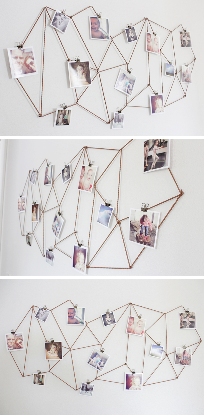 Geometric Photo Wall Display // The Caldwell Project