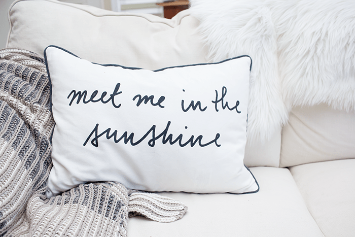 Throw pillows and blankets are all you need to help make your space look better instantly.