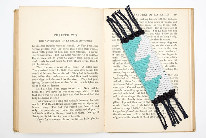 Learn to create woven shapes in this simple DIY mini bookmark tutorial.