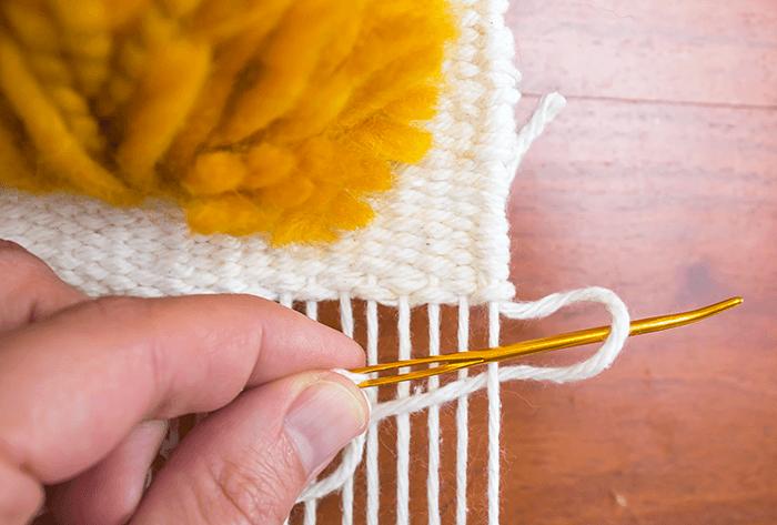 hemstitch weaving tutorial | anchor yarn