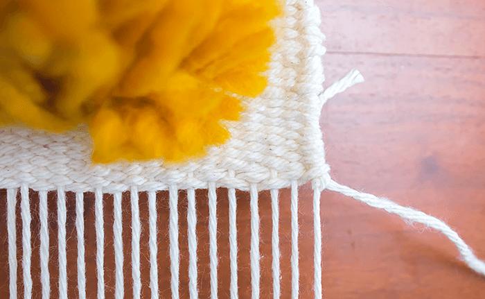 hemstitch | knot yarn on first warp thread