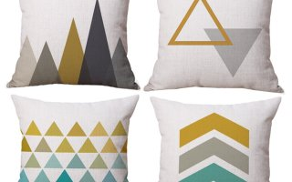 10 Geometric Print Pillow Covers For Under $10